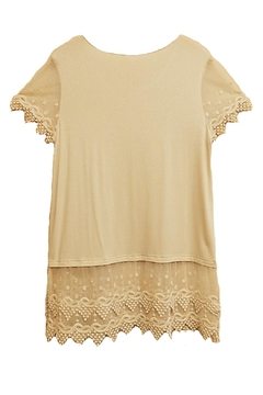 Kaktus Natural Lace Top - Alternate List Image