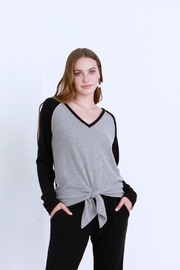 another love  Kal V Neck Fleece Top - Product Mini Image