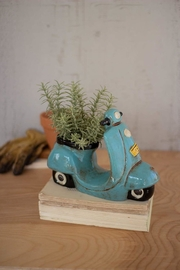 Kalalou Ceramic Moped Planter - Product Mini Image