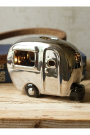 Kalalou Silver Ceramic Camper Lamp - Front cropped