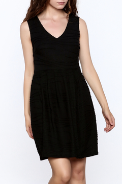Shoptiques Product: V-Neck Textured Dress