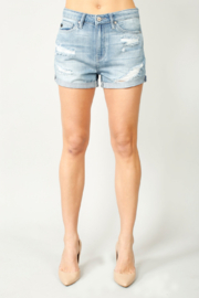 KanCan Kan Can Cuffed High Rise Shorts - Product Mini Image