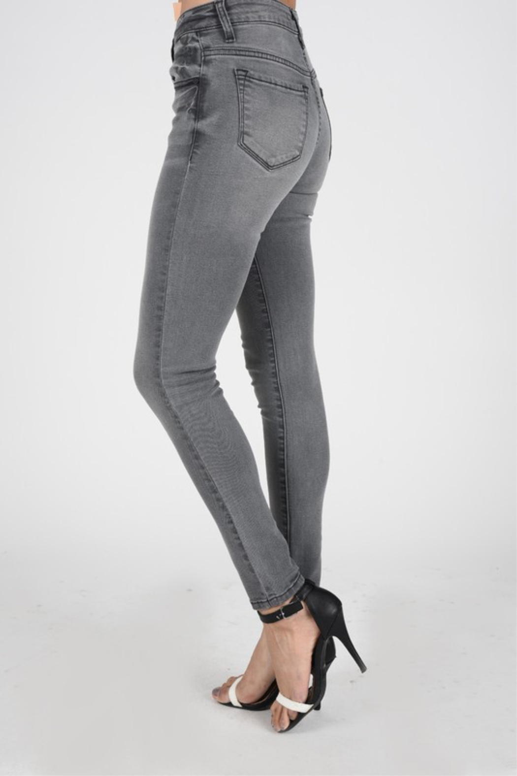 Kan Can Grey Skinny - Front Full Image