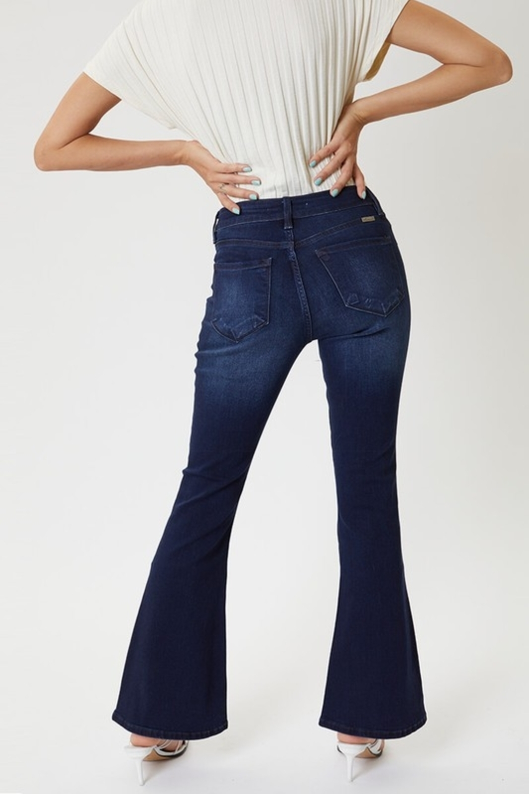 KanCan Kan Can Mid Rise Petite Flare - Front Full Image