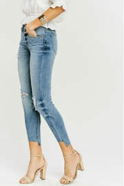 Kan Can Asymmetric Light-Wash Skinny - Side cropped