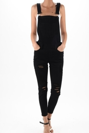 Kan Can Black Distressed Overalls - Product Mini Image