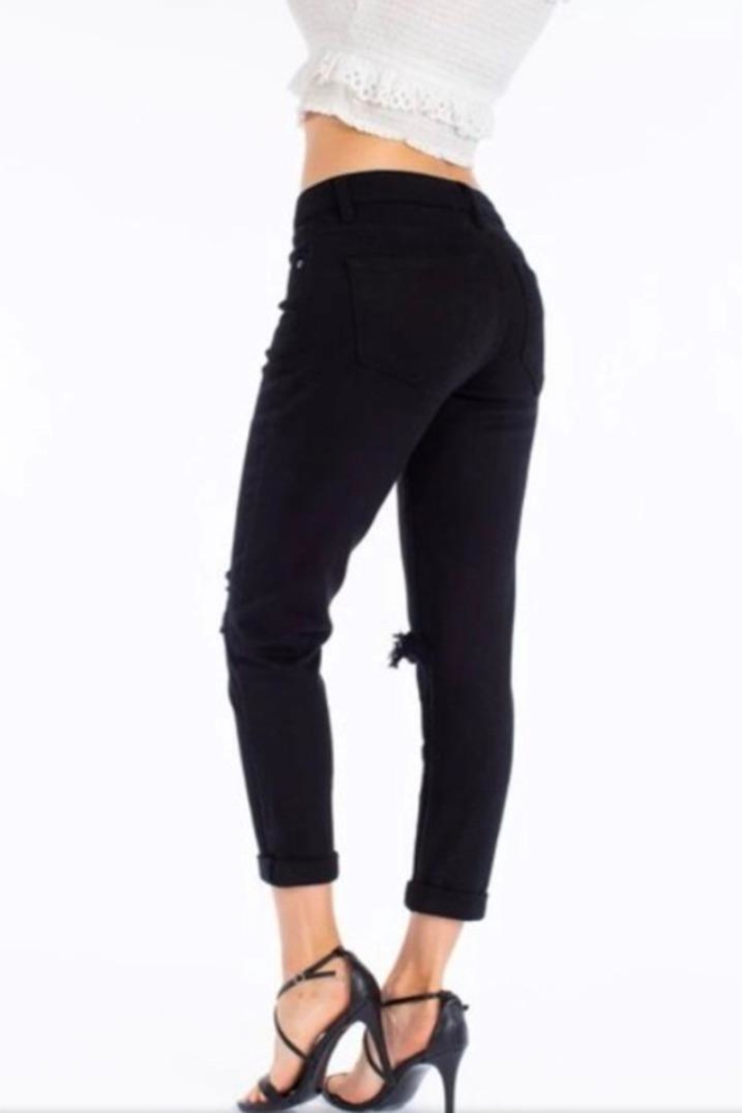 Kan Can Black Girlfriend Jeans - Side Cropped Image