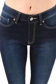 Kan Can Blue Skinny Jeans - Front full body