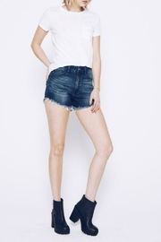 Kan Can Dark Wash Shorts - Side cropped