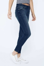 Kan Can Dark Wash Skinny - Back cropped