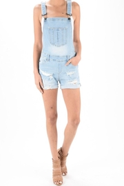 Kan Can Denim Overall Shorts - Product Mini Image