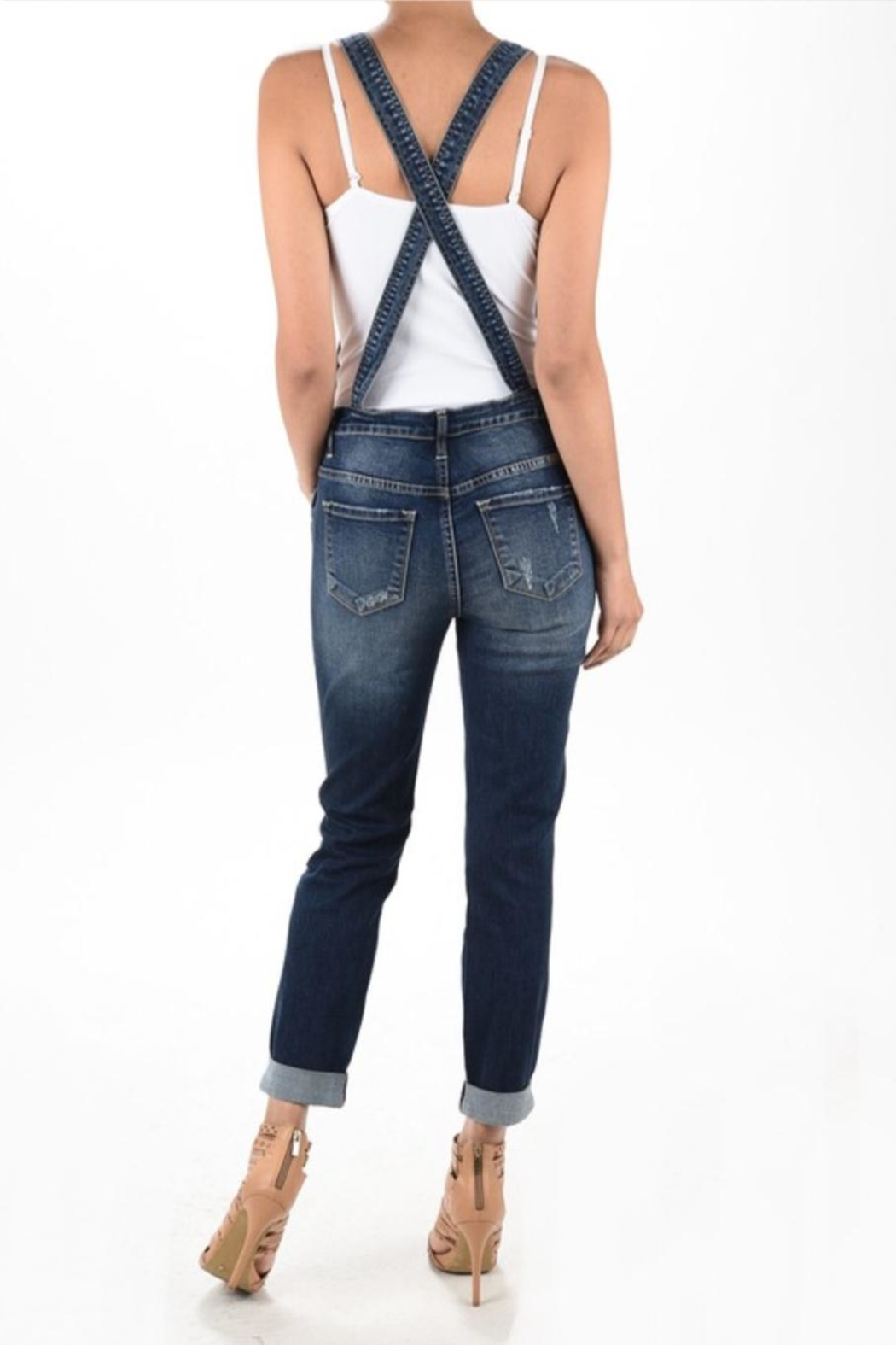 Kan Can Denim Overalls - Front Full Image