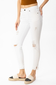 Kan Can Distressed Ankle-Fringe Skinny - Product List Image