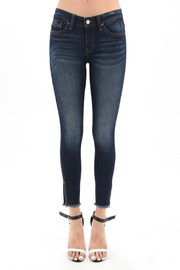 Kan Can Distressed Bottom Jeans - Product Mini Image