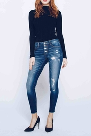 Kan Can Distressed Skinny Jeans - Product Mini Image