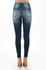 Kan Can Distressed Dark Denim Jean - Back cropped