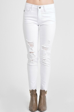 Shoptiques Product: Distressed White Skinnies