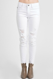 Kan Can Distressed White Skinnies - Product Mini Image