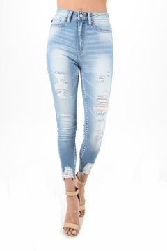 Kan Can Faded Blues Skinnies - Product List Image