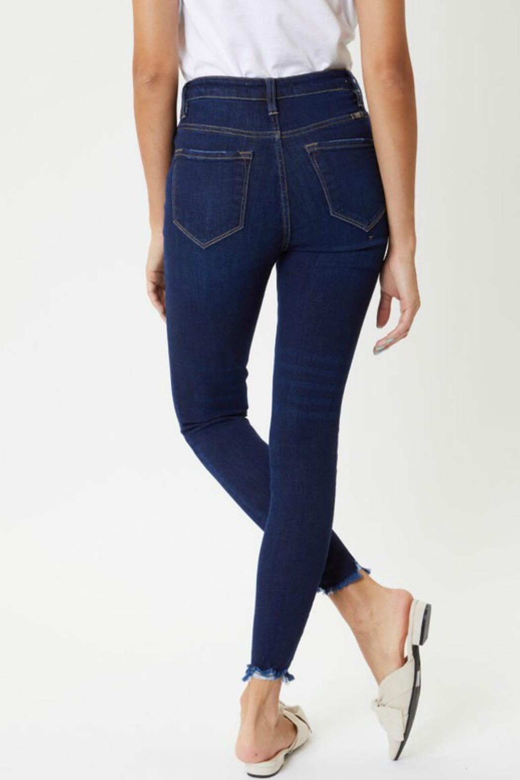 Kan Can Farrah Button-Fly Jeans - Front Full Image