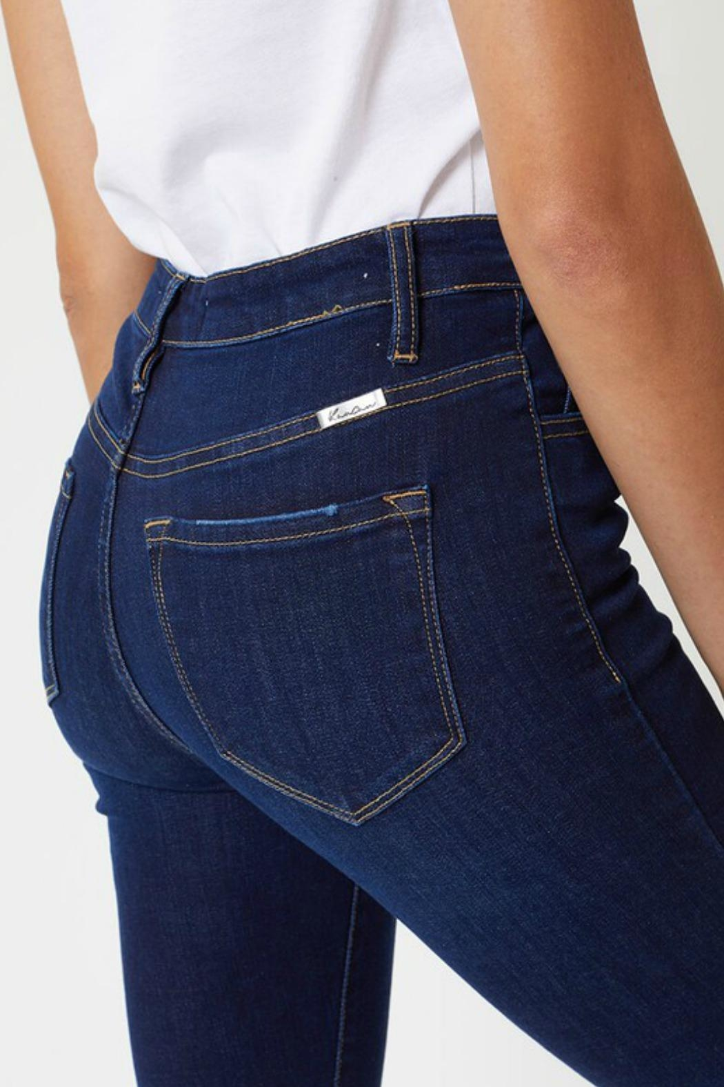 Kan Can Farrah Button-Fly Jeans - Back Cropped Image
