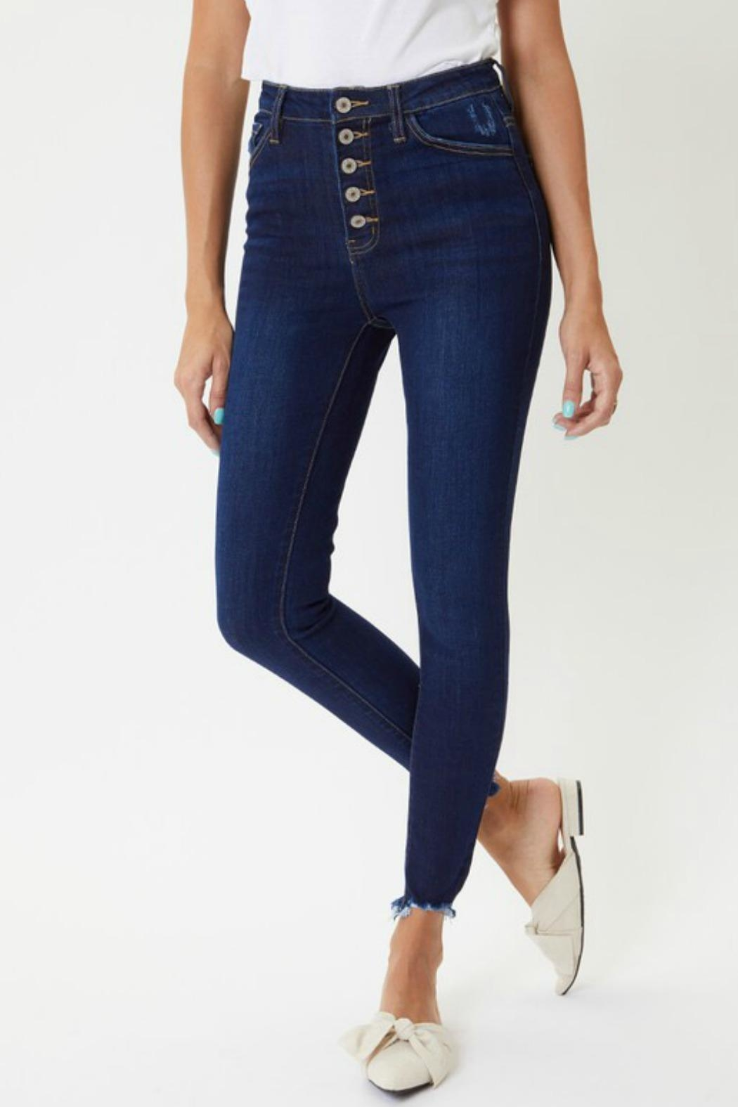 Kan Can Farrah Button-Fly Jeans - Side Cropped Image