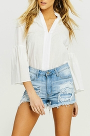 Kan Can Frayed Distressed Shorts - Product Mini Image