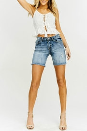 Kan Can Frayed Hem Bermudas - Product Mini Image