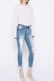 Kan Can Frayed Layered Hem - Front cropped