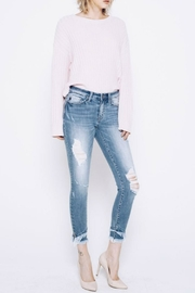 Kan Can Frayed Layered Hem - Front full body
