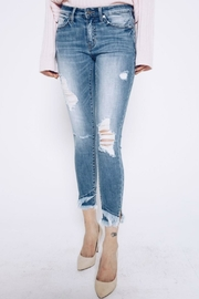 Kan Can Frayed Layered Hem - Side cropped