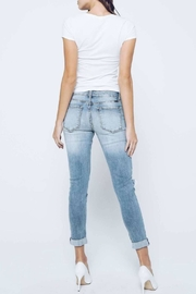 Kan Can Girlfriend Button-Fly Jeans - Back cropped
