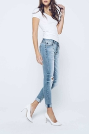 Kan Can Girlfriend Button-Fly Jeans - Front full body