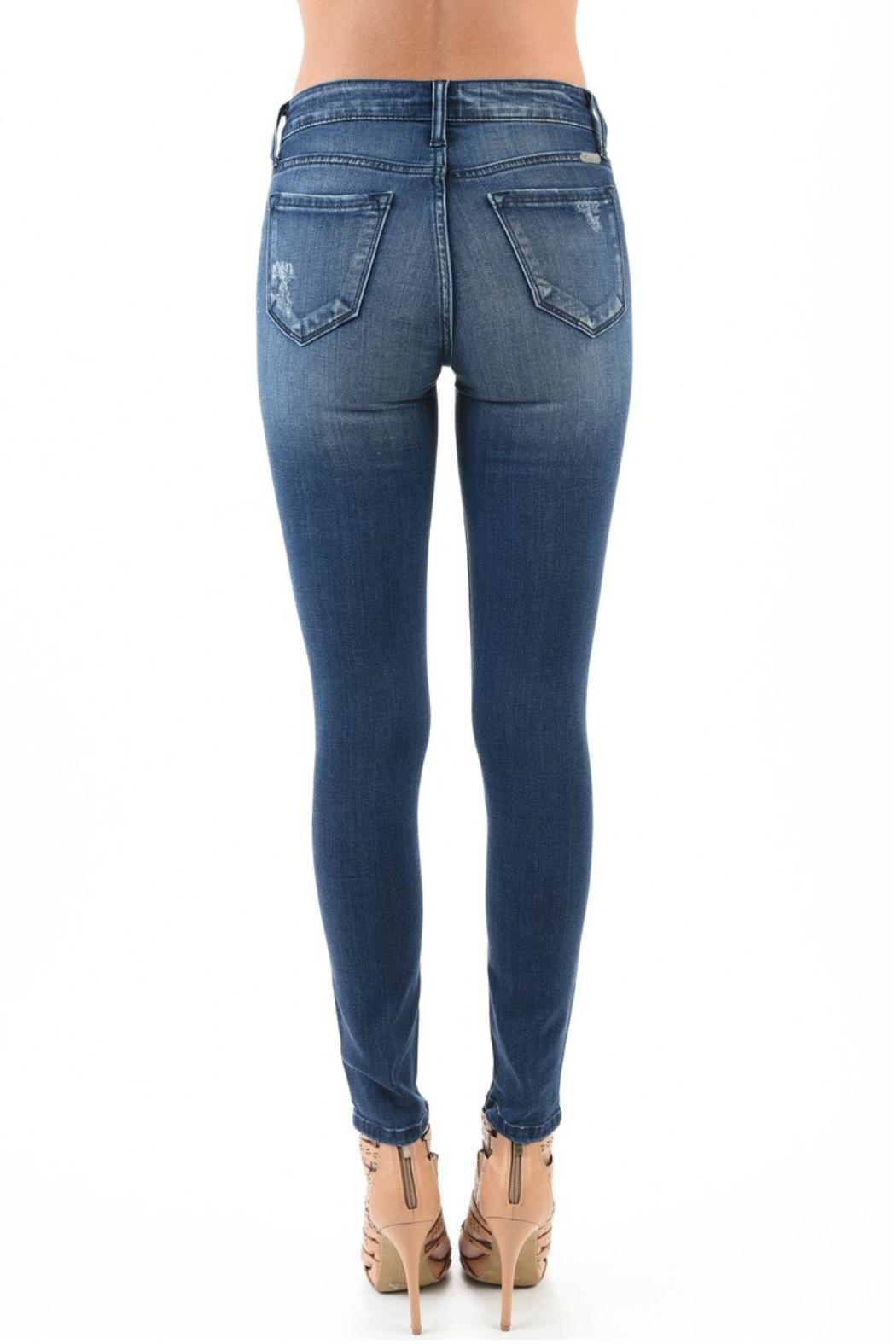 Kan Can High Waist Distressed Jeans - Side Cropped Image