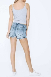 Kan Can Layered Hem Shorts - Side cropped