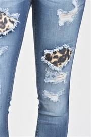 Kan Can Leopard Print Jeans - Side cropped