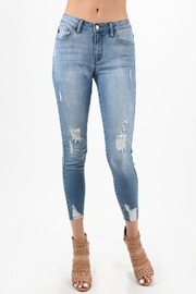 Kan Can Light Distressed Jeans - Product Mini Image