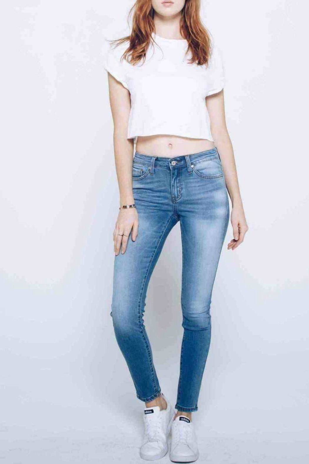 Kan Can Lightly Faded Skinny - Front Full Image