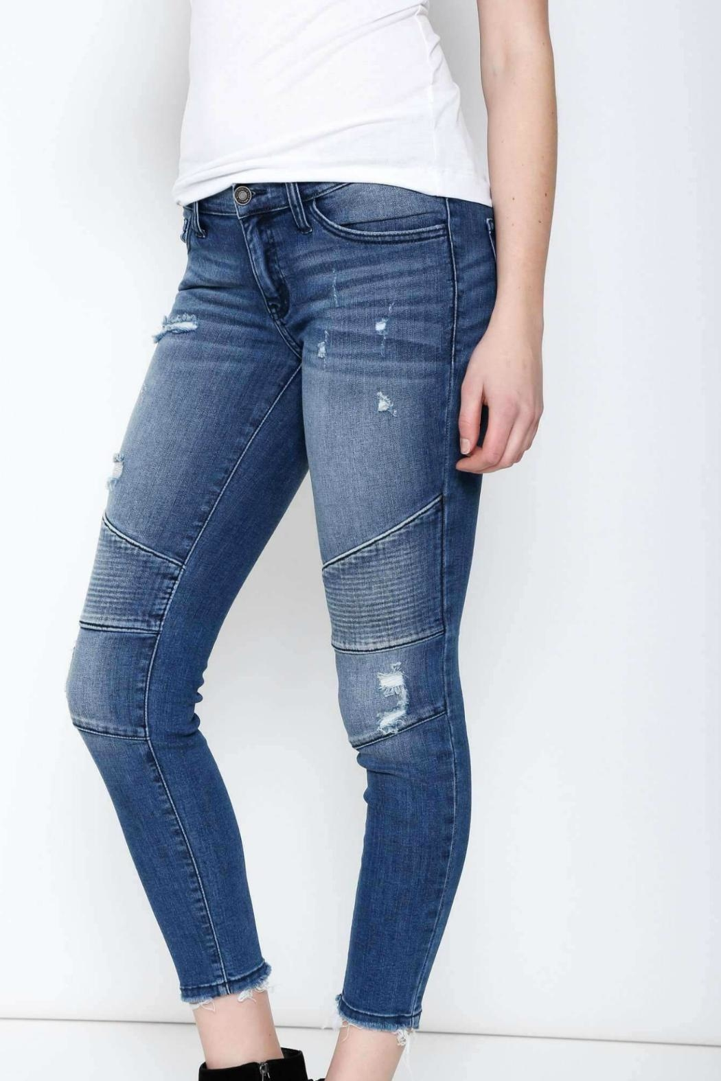 Kan Can Moto Cropped Skinny - Front Full Image