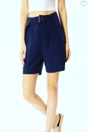 Kan Can Navy Linen Shorts - Product Mini Image