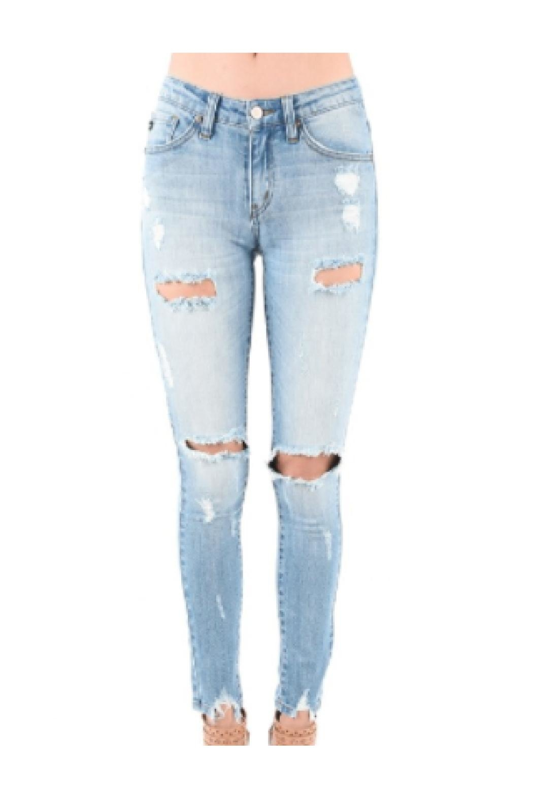 d7f7d432709 Kan Can Skinny Ripped Jeans from Brooklyn by Polly   Esther — Shoptiques