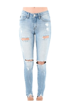 Shoptiques Product: Skinny Ripped Jeans