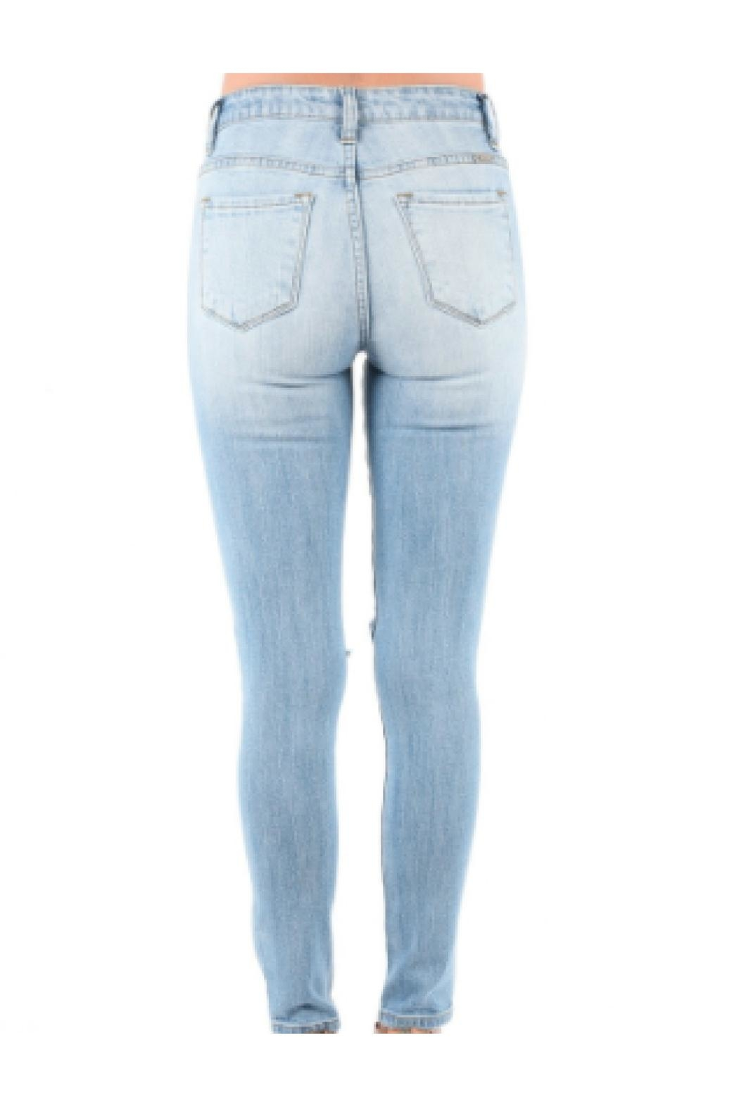 Kan Can Skinny Ripped Jeans - Front Full Image