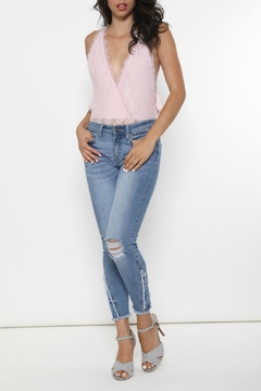 Shoptiques Product: Stella Embroidered Skinny