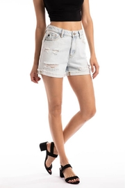 Kan Can Throwback Denim Short - Front cropped