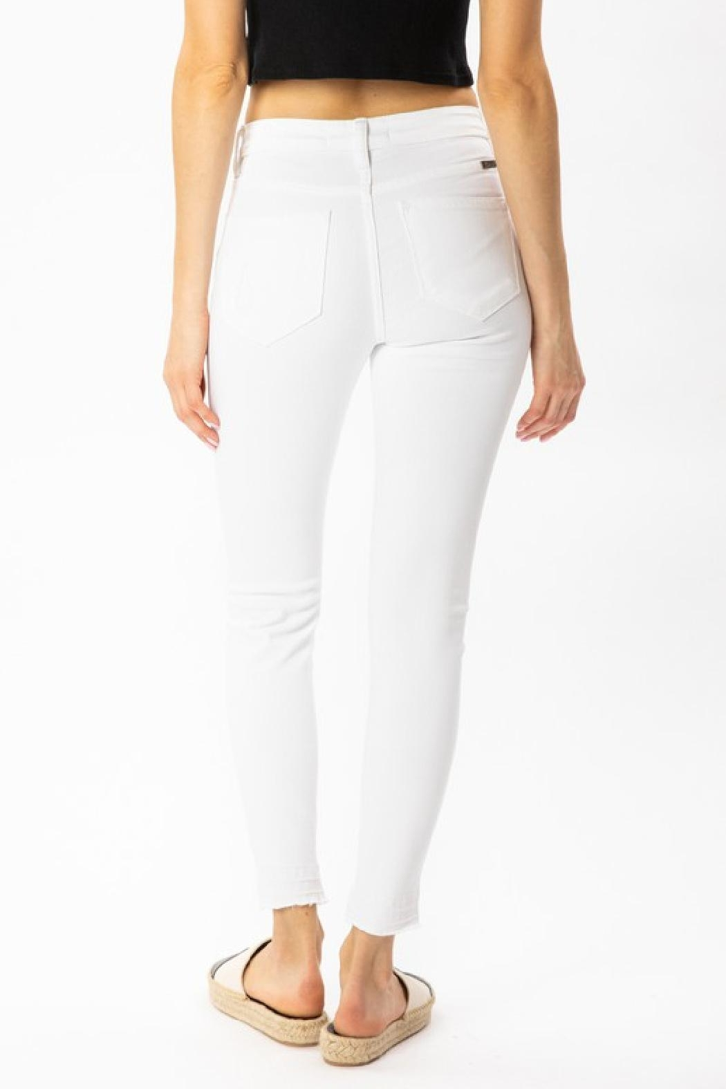 Kan Can White Distressed Jeans - Back Cropped Image