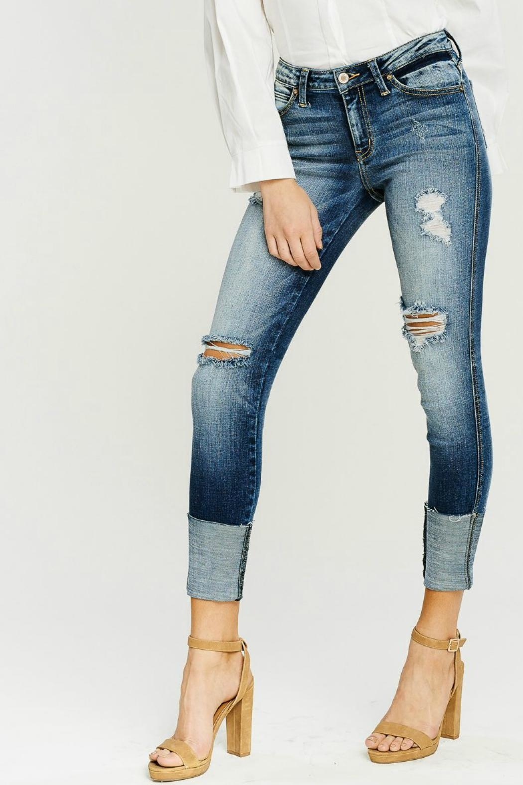 Kan Can Wide Cuff Skinny - Back Cropped Image
