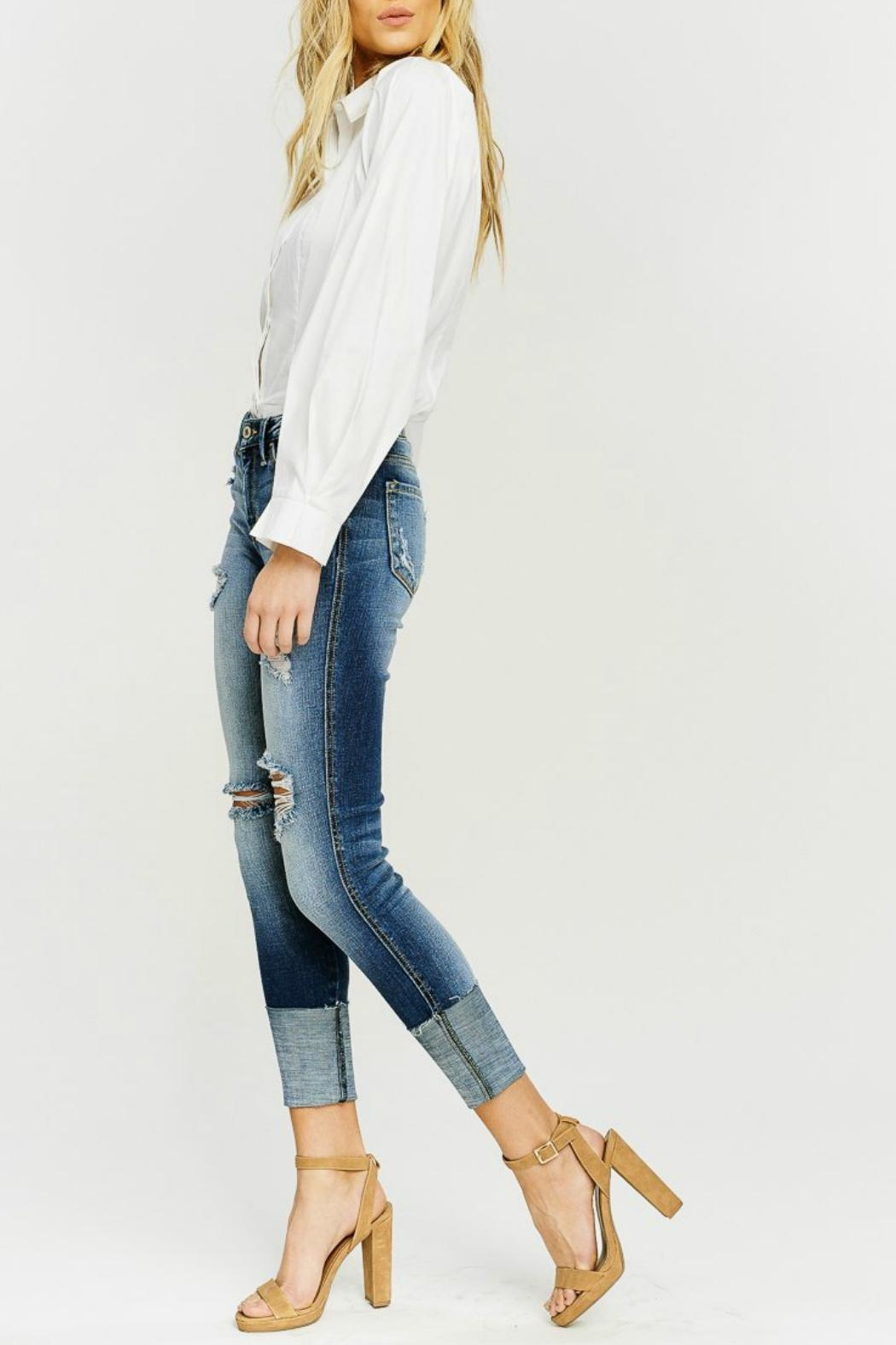 Kan Can Wide Cuff Skinny - Front Full Image