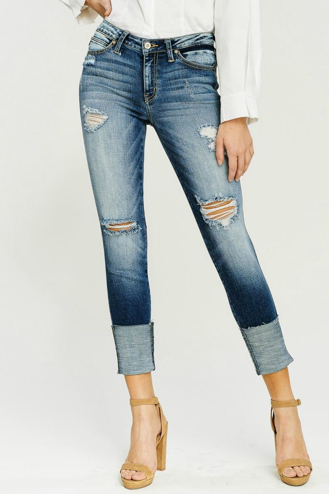 Kan Can Wide Cuff Skinny - Side Cropped Image