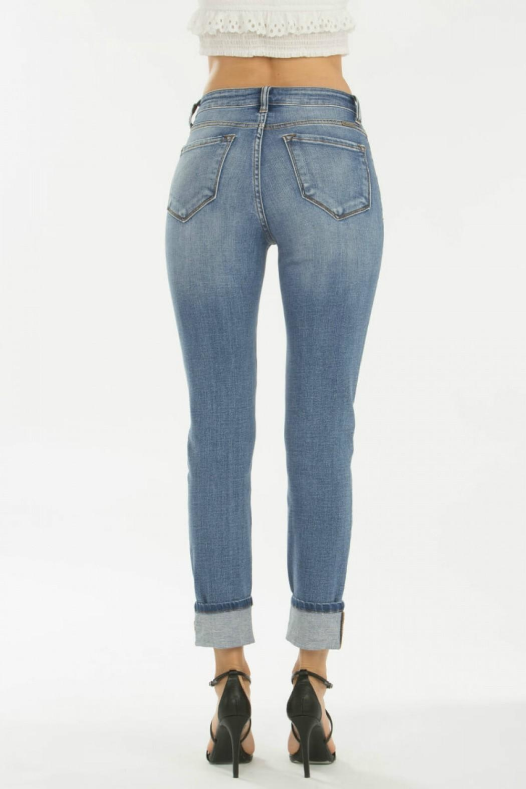 KanCan 5-Button Straight Jeans - Front Full Image